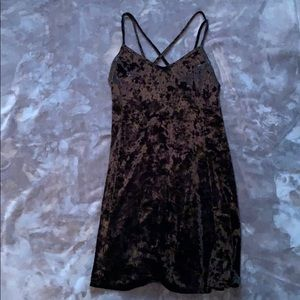 Crushed velvet strappy dress